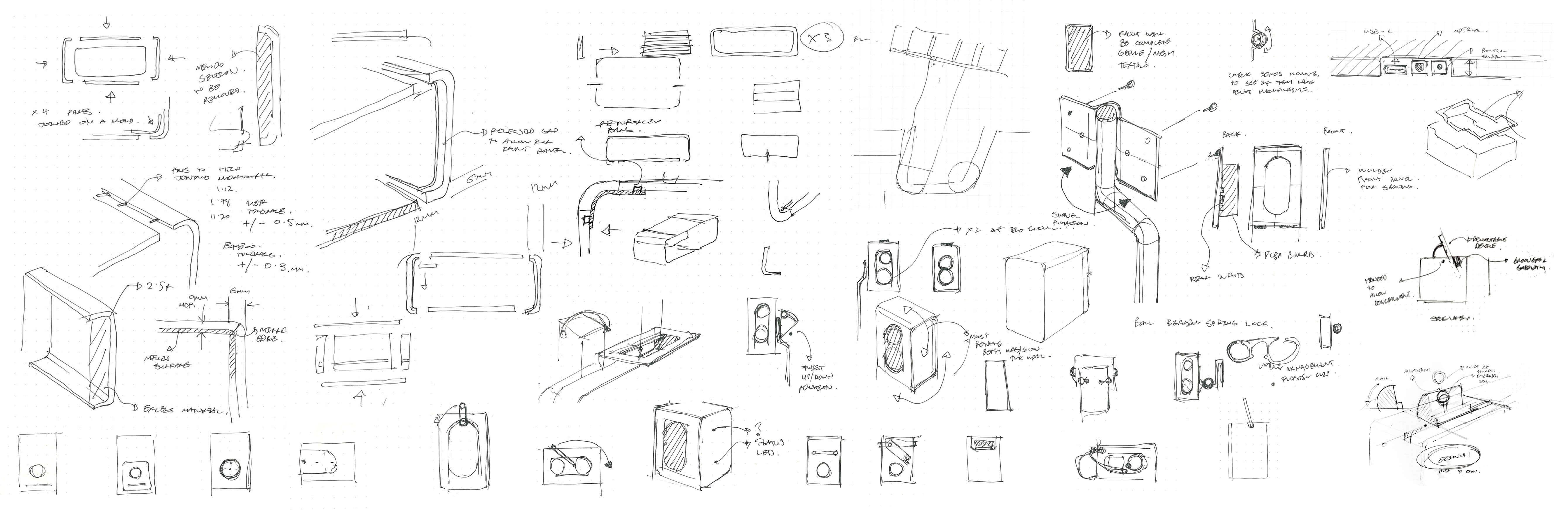 DOCK Sketches portfolio layout